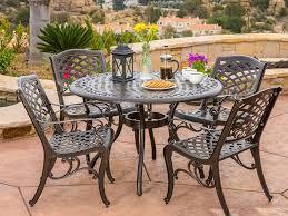 5 piece awesome cast aluminium patio outdoor furniture bronze