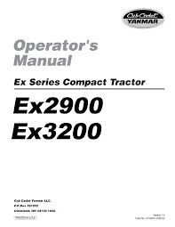cub cadet lawn mower ex3200 user guide manualsonline com