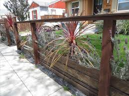 horizontal wood fence front yard home u0026 gardens geek