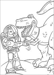 buzz lightyear rex toy story coloring pages coloring