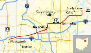 Map Akron Ohio by Ohio State Route 261 Wikipedia