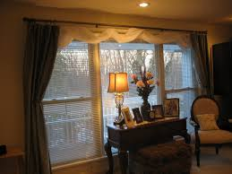 Window Valances Ideas Bow Window Blinds Kitchen Bay Window Treatments For Large Windows