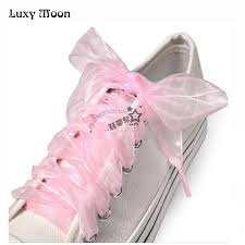 ribbon shoe laces 4pairs princess shoe laces strings for color ribbon shoe laces