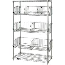 interior stainless steel and wire storage shelves with fixed