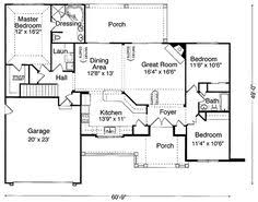Craftsman Style Homes Floor Plans First Floor Plan Of Bungalow House Plan 73005 Like The Laundry