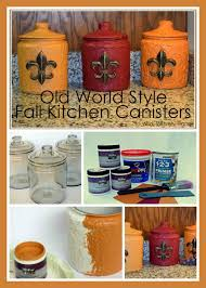 style kitchen canisters style fall kitchen canisters to work with my