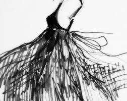 fashion sketch etsy