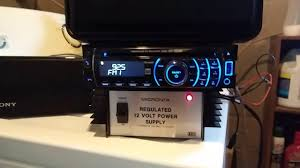 test a car stereo with 12 volt indoor power supply