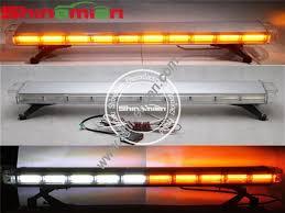 warning light bar amber cob amber white 47 inch emergency strobe light bar lightbar warrning