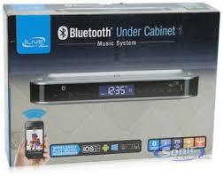 under cabinet bluetooth speaker ilive ikb333s wireless under the cabinet clock radio bluetooth
