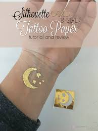silhouette gold and silver tattoo paper tutorial and review