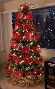 Decorate Christmas Tree With Deco Mesh by 210 Best Christmas Trees Images On Pinterest Christmas Ideas
