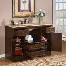 silkroad exclusive travertine 48 inch countertop single sink