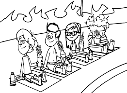 supernoobs beach coloring page wecoloringpage