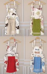 new poly cotton kitchen cooking apron with removable towel water