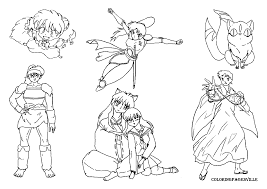pictures inuyasha coloring pages 37 for your picture coloring page