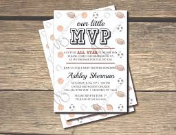 baby shower sports invitations our little mvp is on the way all star sports baby shower