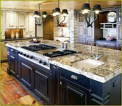kitchen with stove in island kitchen islands with sink and stove top home design ideas