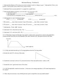 mechanical ennergy worksheet 2 understand the d chegg com
