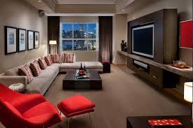 stylish room hotel suite media livingroom design pictures