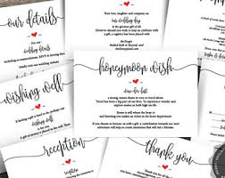 honeymoon wedding registry honeymoon fund wedding insert card gift registry idea