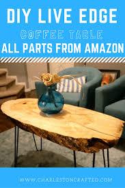 diy live edge wood slab coffee table u2022 charleston crafted