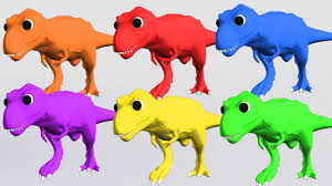 3d dinosaurs teaching colors with color balls colors for kids
