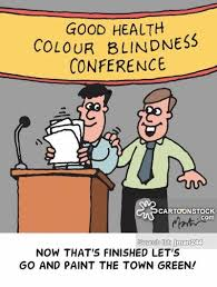Color Blindness Medical Term Color Blind Cartoons And Comics Funny Pictures From Cartoonstock