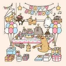 happy birthday funny gif cat birthday decoration