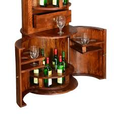liquor table barrel mango wood liquor cabinet u0026 display shelves