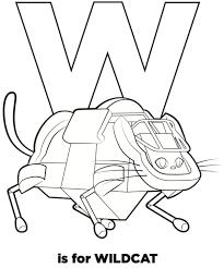 wildcat u2013 preview u201cr robots u201d coloring