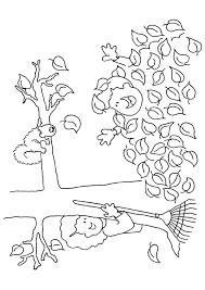 Coloriage Automne Arbre et Enfants