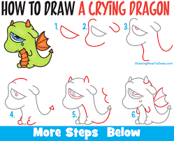 how to draw a cute dragon step by for beginners how to