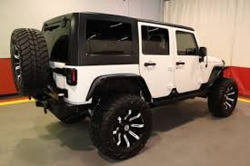 white jeep wrangler unlimited lifted white jeep wrangler in illinois for sale used cars on buysellsearch