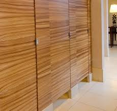 ironwood manufacturing wood veneer restroom partition