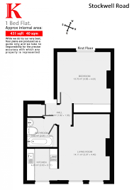 stockwell road brixton sw9 1 bed conversion flat for sale