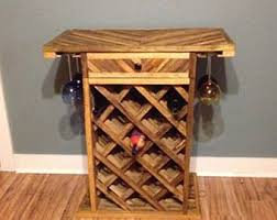 wooden wine rack etsy