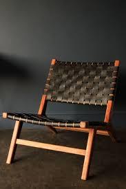 Copenhagen Chair Woven Black Leather