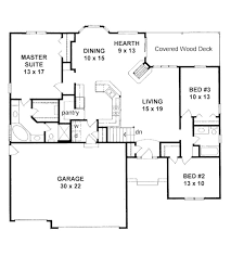3 Bedroom Floor Plans With Garage 451 Best Small House Plans Images On Pinterest Small House Plans