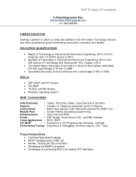 Sap Abap Sample Resume sap mm fresher resume download contegri com
