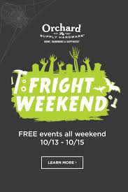 free halloween events this weekend at orchard supply hardware