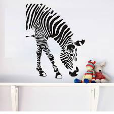 designer wall stickers picture more detailed picture about zebra zebra eating wall stickers for baby room kids rooms jungle safari wild animal vinyl wall decals