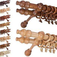 Wooden Curtain Pole Brackets 35mm Wooden Curtain Poles And Finials Ebay