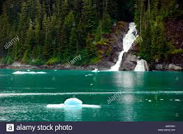 Alaska waterfalls images Waterfalls and icebergs in the misty fjords of tracy arm alaska jpg