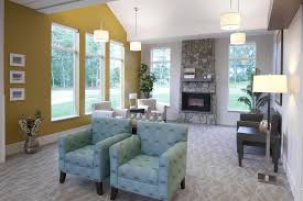 jw design linkedin the lobby at the new medilodge of richmond plenty of natural light bold colors and a cozy fireplace not a bad first impression for a nursing home