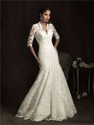 ivory lace wedding dress a line v neck sheer back ivory lace wedding dress with sleeves