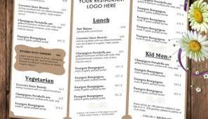 pages menu template chalkboard style food menu psd template heroturko