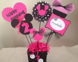 Centerpieces For Minnie Mouse Party minnie mickey mouse centerpiece buckets minnie mouse party
