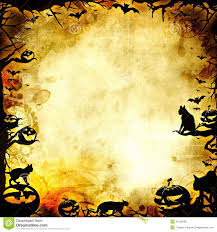 halloween background texture vintage halloween frame background or texture stock illustration
