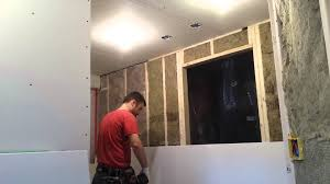 drywall hanging in basement youtube